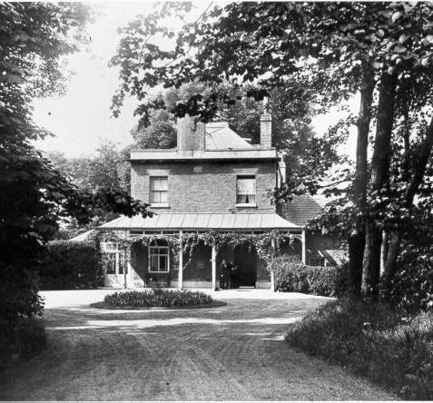 Moulsecoomb Place, c. 1910: The side of the house showing the driveway. | Image reproduced with kind permission from Brighton and Hove in Pictures by Brighton and Hove City Council