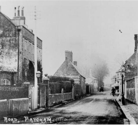 London Road, Patcham, c. 1900: A view of London Road, Patcham. This main street of the village was part of the main London Road until the Patcham by-pass opened in 1926. It is now known as Old London Road. | Image reproduced with kind permission from Brighton and Hove in Pictures by Brighton and Hove City Council