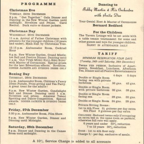 Christmas programme, date unknown   Photo submitted by Liam Mandville