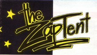 Zap tent filofax flyer | Image from the Zap archive