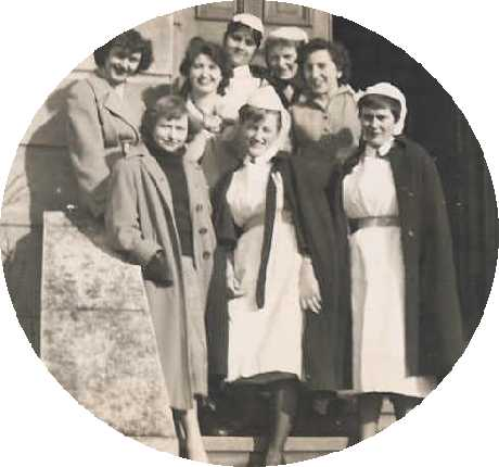 On the steps of Brighton General Nurses Home | From the private collection of Kenneth Ross